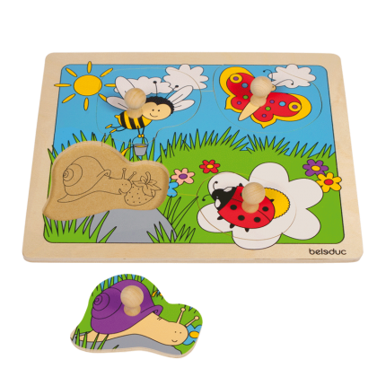 Knob puzzle - meadow | Beleduc