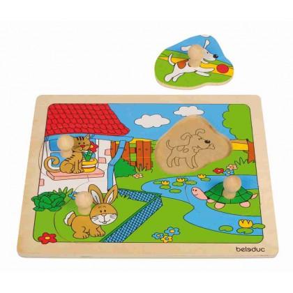 Knob puzzle - pets | Beleduc